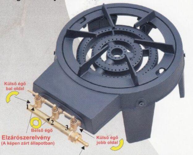 """Image of 4 Lábú Gázzsámoly 3 körégős 8,6 kW """"MEDVE"""""""