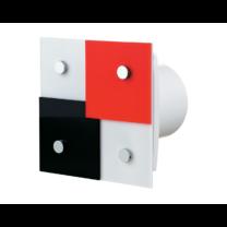 Vents 100 Domino 1-T Modern Formatervezésű organikus Üveg Előlapos Ventilátor Időkapcsolóval