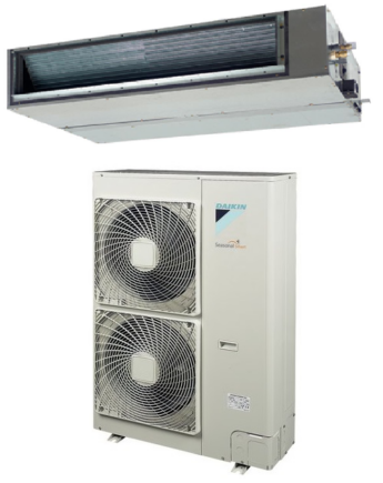 Daikin FBQ100D/RZQG100L9V1 Sky Air Légcsatornázható Inverteres Ventilátoros Beltéri Egység 9.5 kW, Távirányító Nélkül