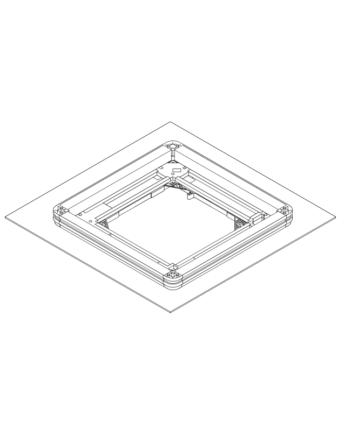 Daikin KDBQ44B60 Távtartó csökkentett beépítési magasság esetén - csak BYFQ60B2 légrács esetén használható