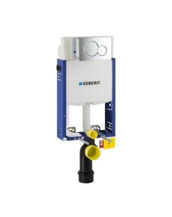 Geberit Kombifix WC szerelőelem fali WC részére Sigma 12cm-es öblítőtartállyal, ECO, Sigma01 Alpin fehér nyomólappal