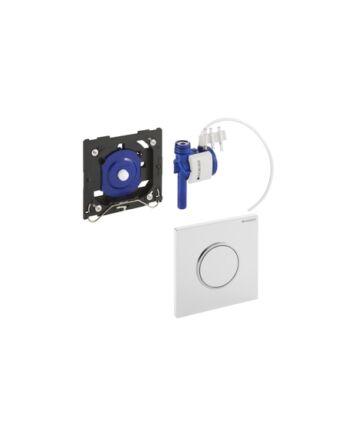Geberit Sigma10 pneumatikus vizelde vezérlés (fehér / matt króm / matt króm)