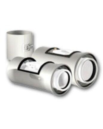 Ricom Gas PPS/Alu 60/100-as Egyenes idom vizsgálónyílással