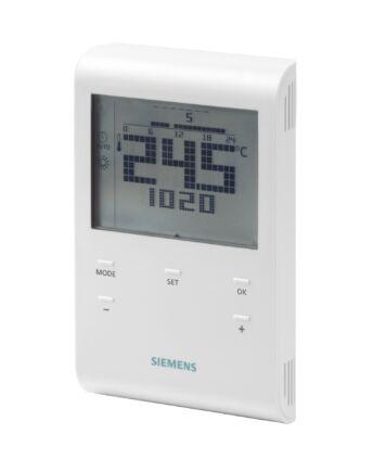 SIEMENS RDE100.1 Szobatermosztát időprogrammal és LCD-vel, elemes