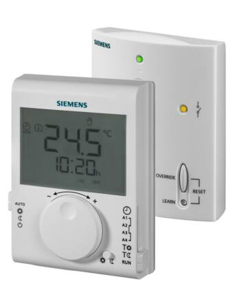 Siemens RDJ100RF/SET Rádiófrekvenciás szobatermosztát 24-órás időprogrammal, LCD-kijelzővel