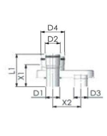 Tricox Alu gyűjtő adapter 2x80 - 80/125