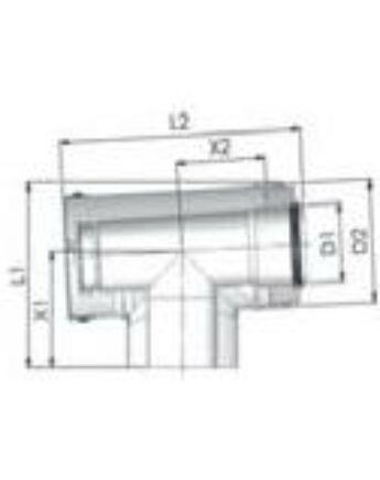 Tricox Alu/Alu ellenőrző T-idom 80/125mm
