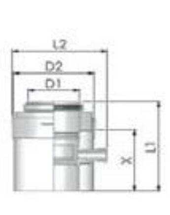 Tricox Alu/Alu kondenzátum leválasztó 80/125mm