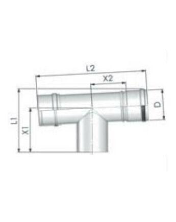 Tricox Alu ellenőrző T-idom 60mm