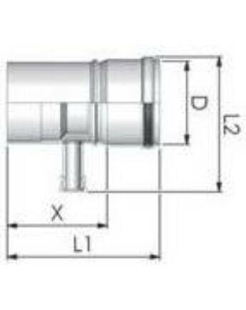 Tricox Alu kondenzátum leválasztó 80mm, fehér