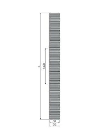 Tricox PP flexibilis cső, Ø80 mm, 25 fm-es tekercsben, kartondobozban