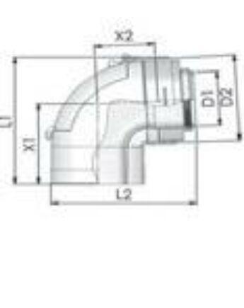 Tricox PPs/Alu ellenőrző könyök 80/125 mm 87°