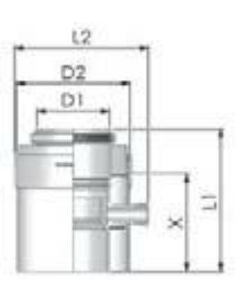 Tricox PPs/Alu kondenzátum leválasztó 110/160mm