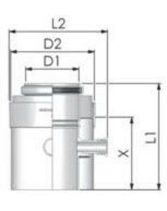 Tricox PPs/Alu mérőpont 60/100mm