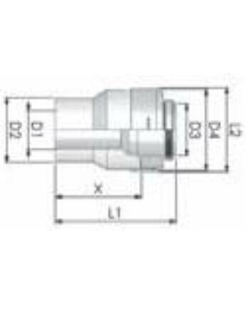 Tricox PPs/Alu bővítő 100/150mm-110/160mm
