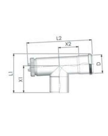 Tricox PPs ellenőrző T-idom 60mm