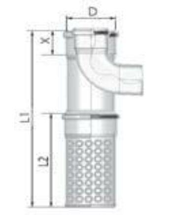 Tricox PPs/Alu kültéri T-idom 80/125mm levegő kosárral