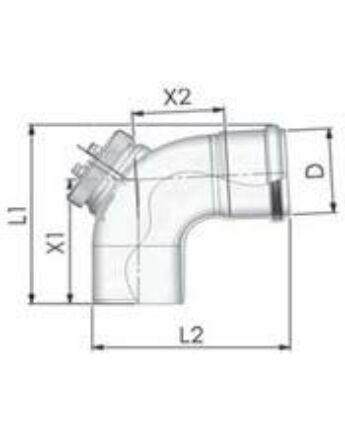 Tricox PPs ellenőrző könyök 87° 160mm