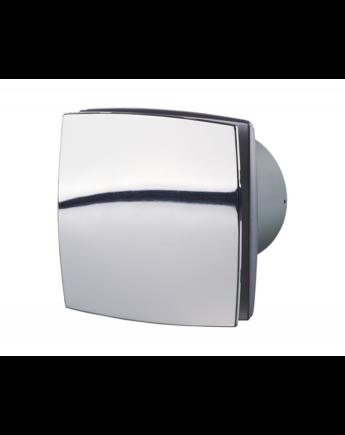 Vents 125 LDATH Zárt előlappal szerelt dekor ventilátor (króm) Páraérzékelővel és Időkapcsolóval
