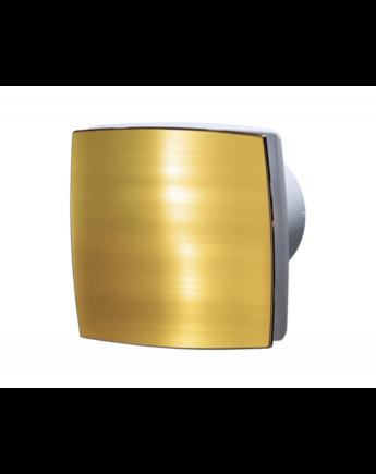 Vents 125 LDATL Zárt előlappal szerelt dekor ventilátor (arany) Időkapcsolóval és Golyóscsapággyal
