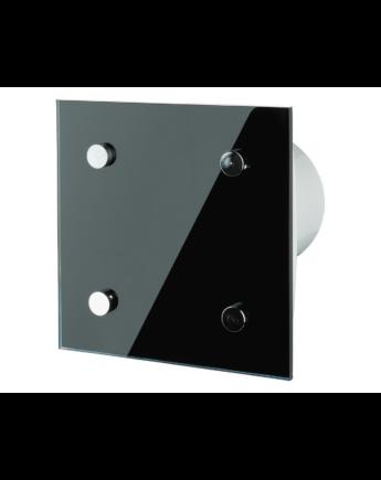 Vents 100 Modern T Black Dekoratív Ventilátor Fekete PVC Előlappal Időkapcsolóval