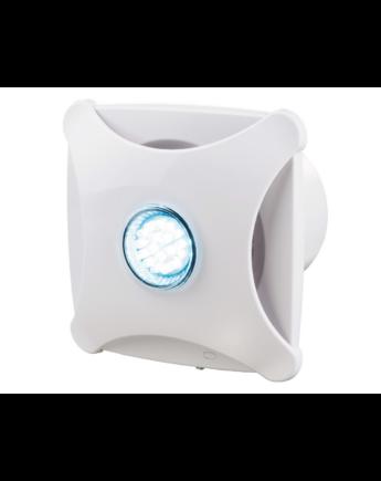 Vents 100 XL Star Modern Külsejű Dekoratív Ventilátor LED Világítással (fehér) Golyóscsapággyal