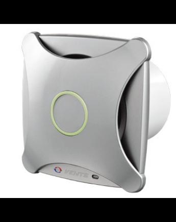 Vents 125 XTH Modern Külsejű Dekoratív Ventilátor (alu matt) Páraérzékelővel és Időkapcsolóval
