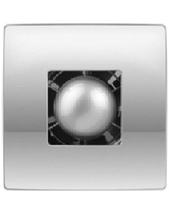 Vents 100 Atoll Titan T Modern Formatervezésű Inox Előlapos Ventilátor Időkapcsolóval
