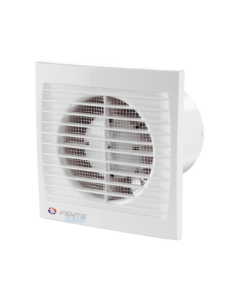 Vents 100 Silenta-STHL Alacsony Zajszintű és Energiafogyasztású Ventilátor Lapos Előlappal Páraérzékelővel, Időkapcsolóval és Golyóscsapággyal