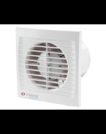 Vents 125 Silenta-STH Alacsony Zajszintű és Energiafogyasztású Ventilátor Lapos Előlappal Páraérzékelővel és Időkapcsolóval