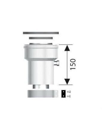 Ariston Függőleges indítóidom, alu, Ø80/125 mm