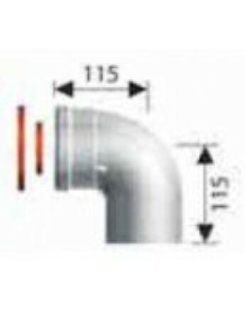 Ariston 90°-os könyökidom, pp, Ø80 mm
