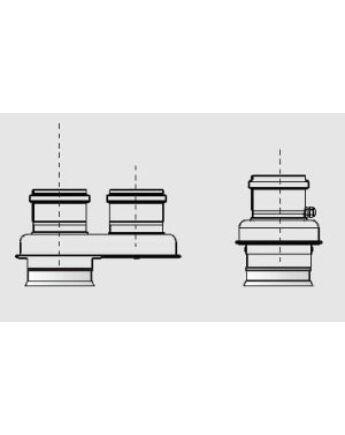 Ariston ALU/PPS 80/125 - 80/80 osztóidom HP 45-65