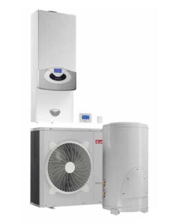 Ariston Genus Premium EVO Hybrid Flex 35/8 EU kondenzációs fali gázkazán hőszivattyúval és HMV tárolóval