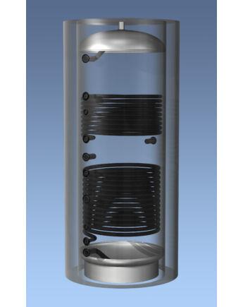Hajdu Aquastic AQ PT 2000 C2 Puffertároló 2 hőcserélővel