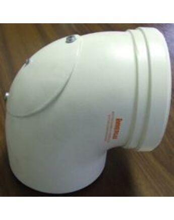 Immergas Ø 80/125 mm-es könyök idom nyitható vizsgáló nyílással