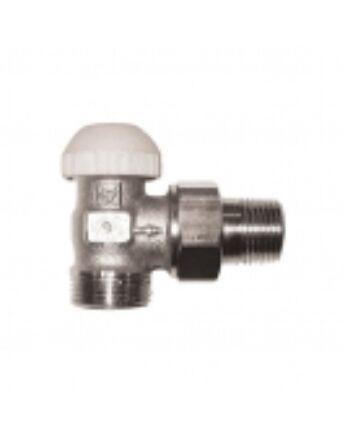"""Herz 1/2"""" termosztatikus sarok radiátorszelep (3/4"""" euk. csatlakozással)"""