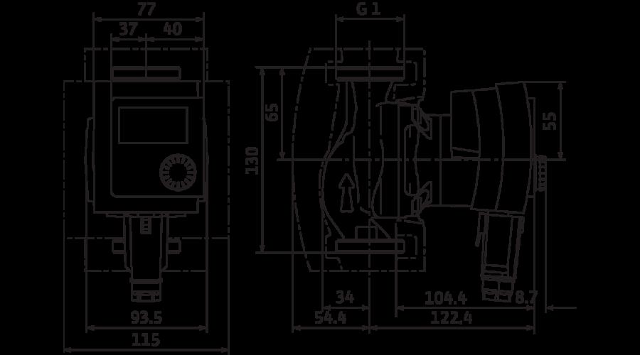 wilo stratos pico 15 1 6 keringet szivatty. Black Bedroom Furniture Sets. Home Design Ideas